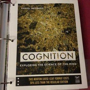 Daniel Reisberg Loose leaf Cog Psych Textbook